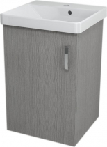 Sapho THEIA umyvadlová skříňka 46, 4x70x43, 5cm, 1xdvířka, dub stříbrný TH053