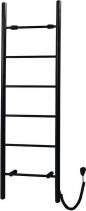 Sapho KARBO elektrický sušák ručníků, kulatý, 500x1600 mm, 120 W, černá mat KB905