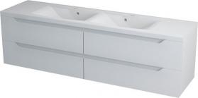 Sapho WAVE dvojumyvadlová skříňka 180x50x48cm, bílá WA181