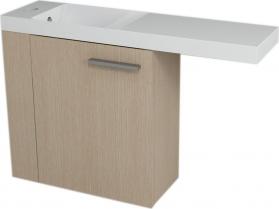 Sapho LATUS VI umyvadlová skříňka 50x50x22cm, levá, Dub benátský 55885