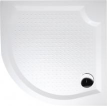 Gelco VIVA90 sprchová vanička z litého mramoru, čtvrtkruh, 90x90x4cm, R550 GV559