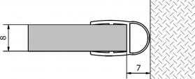 Polysan Těsnění mezi sklo a stěnu, 2000mm, na sklo 8mm 307A-08
