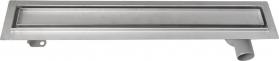 Aqualine PAVINO Nerezový sprchový kanálek s roštem pro dlažbu, 760x140x92 mm 2710-80