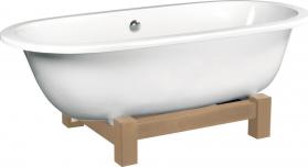 Polysan MATRIX W volně stojící vana 175x80x60cm, bílá, dřevěná konstrukce bez nátěru 39134