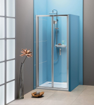 Polysan EASY LINE sprchové dveře skládací 1000mm, čiré sklo EL1910