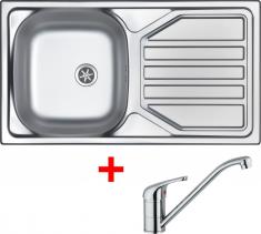 Nerezový dřez Sinks OKIO 780 M+VENTO 4 OK78MVE4CL