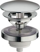 Silfra Neuzavíratelná kulatá výpusť pro umyvadla bez přepadu, V 5-60mm, chrom UD95051
