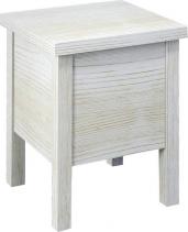 Sapho BRAND stolička s úložným prostorem 35x46x35cm, starobílá BA122