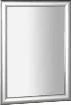 Sapho ESTA zrcadlo v dřevěném rámu 580x780mm, stříbrná s proužkem NL395