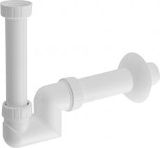 Bruckner Umyvadlový sifon 1'1/4 nízký, odpad 40 mm, bílá 151.125.0