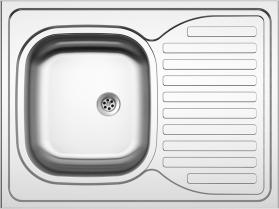 Nerezový dřez Sinks CLP-D 800 M 0,5mm matný STSCPM8006005M