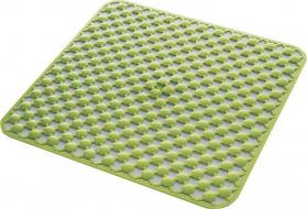 Aqualine GEO podložka do sprchového koutu 53x53cm s protiskluzem, kaučuk, zelená 97535304