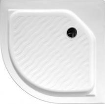 Aqualine Sprchová vanička akrylátová, čtvrtkruh 80x80x15cm C80