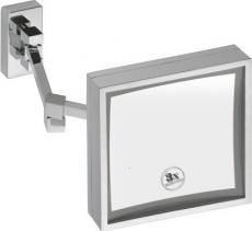Bemeta Kosmetické zrcátko s LED osvětlením, hranaté, závěsné, 205x205x415mm 112101208