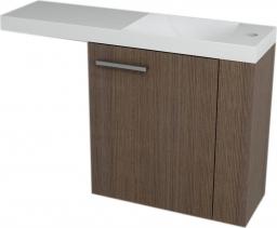 Sapho LATUS VI umyvadlová skříňka 50x50x22cm, pravá, Borovice rustik 55860