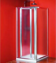 Gelco Sigma obdélníkový sprchový kout 900x800mm L/P varianta, skládací dv., sklo Brick SG3849SG3678