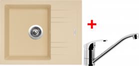 Granitový dřez Sinks LINEA 600 N Sahara+PRONTO LI60050NPRCL