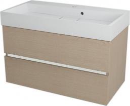 Sapho LARGO umyvadlová skříňka 89x50x45cm, dub benátský LA904