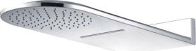 Mereo Talířová sprcha horní, s vodopádem, půlkulatá 600 x 251 mm, nerez CB496 CB496