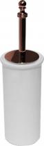 Sapho PERLA WC štětka na postavení, keramika, růžové zlato PE1207