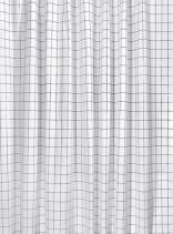 Aqualine Sprchový závěs 180x180cm, vinyl, černá/bílá čtvercový vzor ZV022