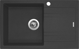 Granitový dřez Sinks LINEA 780 N Granblack LEVÝ SIGLI780480N30L
