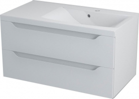 Sapho WAVE umyvadlová skříňka 89, 7x45x47, 8cm, pravá, bílá WA093P