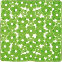 Aqualine MARGHERITA podložka do sprchového koutu 51, 5x51, 5cm s protiskluzem, PVC, zelená 975151P8