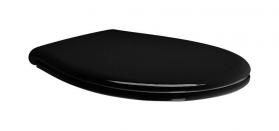 GSI CLASSIC WC sedátko soft close, černá/chrom MSC87CN20