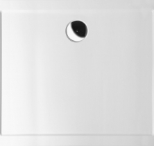 Polysan KARIA sprchová vanička z litého mramoru, obdélník 80x70x4cm, bílá 11091