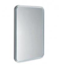 Sapho FLOAT zaoblené LED podsvícené zrcadlo v rámu 600x800mm, bílá 22572