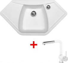 Granitový dřez Sinks NAIKY 980 Milk+MIX 3P GR TLN980MI3P28