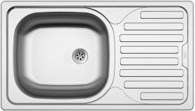 Nerezový dřez Sinks CLASSIC 760 M 0,5mm matný STSCLM7604355M