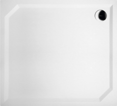 Gelco SARA sprchová vanička z litého mramoru, obdélník 100x90x4cm, hladká HS10090