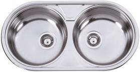 Nerezový dřez Sinks DUETO 847 V 0,6mm matný RDDUM8474446V
