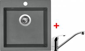 Granitový dřez Sinks VIVA 455 Titanium+PRONTO VIV72PRCL
