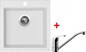 Granitový dřez Sinks VIVA 455 Milk+PRONTO VIV28PRCL