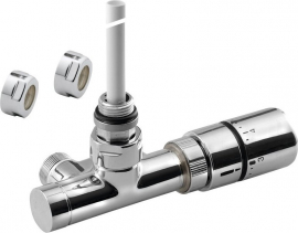 Sapho MONO ONE připojovací sada ventilů termostatická jednobodová, rozteč 40mm, provedení Chrom CP2050S