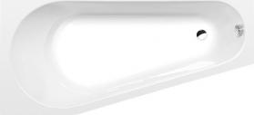 Polysan PROJEKTA L asymetrická vana 160x80x44cm, bílá 20111
