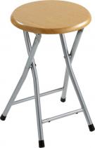 Aqualine Koupelnová stolička, průměr 29, 8x46 cm, dekor dřevo CO73