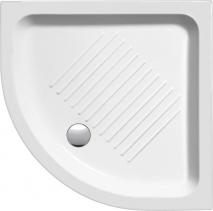 GSI Keramická sprchová vanička, čtvrtkruh 80x80x11cm, R550 448011