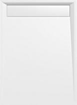 Polysan VARESA sprchová vanička z litého mramoru se záklopem, obdélník 120x90x4cm, bílá 71603