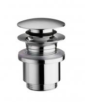 Silfra Uzavíratelná k. výpust pro umyvadla bez přepadu, Click Clack, tichá, V10-25mm, chrom UD369S51