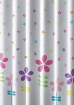 Aqualine Sprchový závěs 180x180cm, polyester, květovaný barevný ZV025