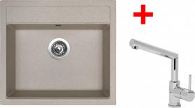 Granitový dřez Sinks SOLO 560 Avena+MIX 350P ACRS56029M350P