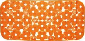 Aqualine MARGHERITA podložka do vany 34, 5x72cm s protiskluzem, PVC, oranžová 973572P4