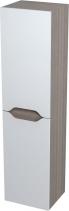 Sapho WAVE skříňka vysoká s košem 35x140x30cm, levá, bílá/mali wenge 51240L