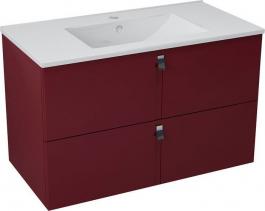 Sapho MITRA umyvadlová skříňka 89, 5x55x45, 2 cm, bordó MT093