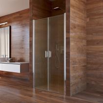 Mereo Sprchové dveře, Lima, dvoukřídlé, lítací, 90x190 cm, chrom ALU, sklo Point CK80522K