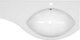 Sapho ISOBEL umyvadlo s odkládací plochou vlevo 110x55cm, litý mramor, bílá 55601
